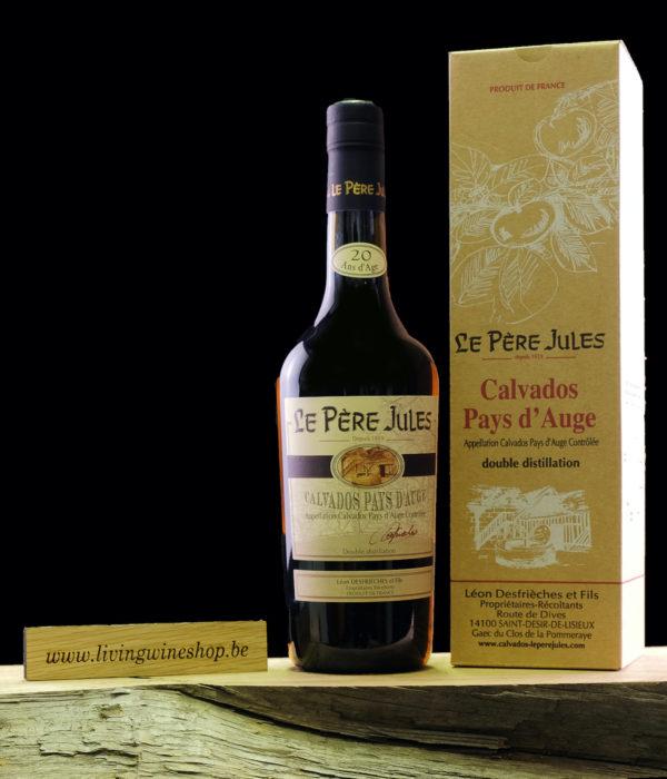 Calvados pere jules 20 jaar fles en box