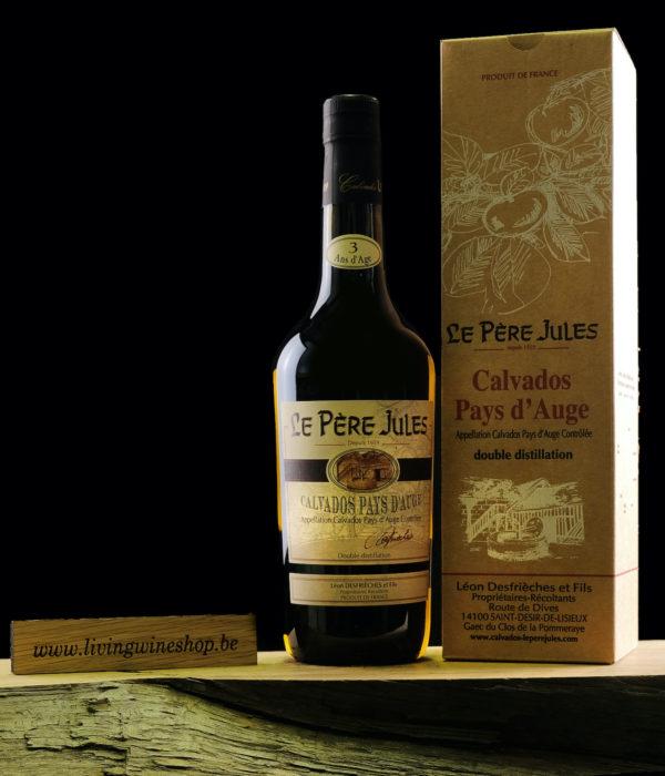 Calvados pere Jules 3 jaar fles met box