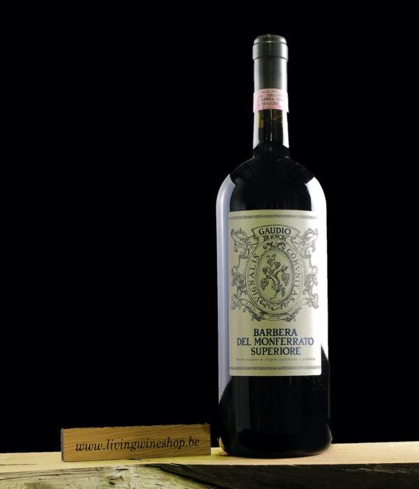 WIjn-Gaudio-Barbera-del-Monferrato-Italie-rood-Magnum-fles