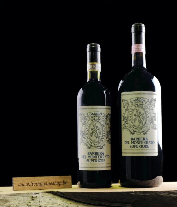 wijn-Gaudio-Barbera-del-Monferrato-italie-fles-en-magnum